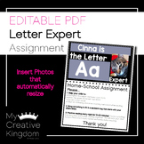 EDITABLE PDF Letter Expert Home-School Connection