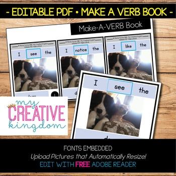 EDITABLE PDF Make a Verb Book Template