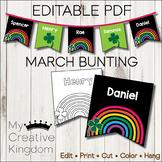 EDITABLE PDF March Bunting