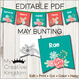 EDITABLE PDF May Bunting