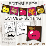 EDITABLE PDF October Bunting