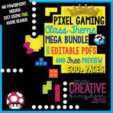 EDITABLE PDF Pixel Gaming Class Theme Mega Bundle