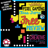 EDITABLE PDF Pixel Gaming Class Theme Mega Bundle Free Preview