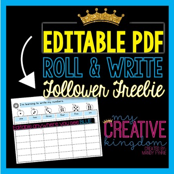 EDITABLE PDF Roll and Write Freebie