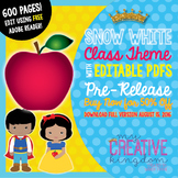 EDITABLE PDF Snow White Fairy Tale Class Theme Mega Bundle