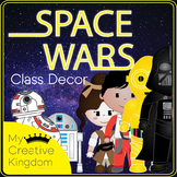 EDITABLE PDF Space Wars Galaxy Class Theme Decor Mega Bundle