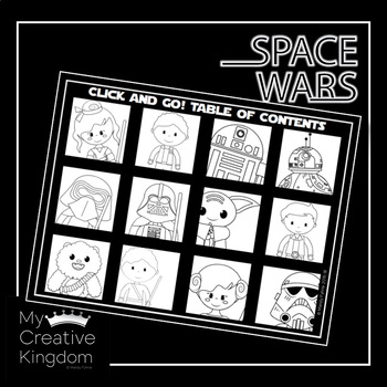EDITABLE PDF Space Wars Trace and Color Name Practice - PK-1