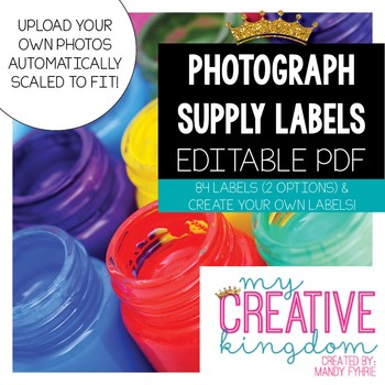EDITABLE PDF Visual Photograph Class Supply Labels