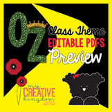EDITABLE PDF Wizard of Oz Classroom Theme Mega Bundle FREE