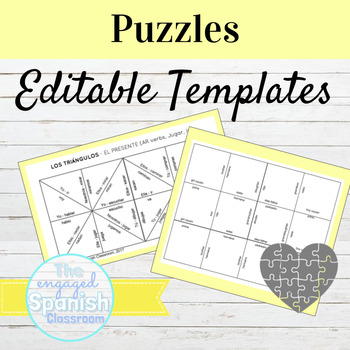EDITABLE PUZZLE TEMPLATES: Triangle and Square EDITABLE Puzzles!