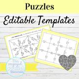 EDITABLE Puzzles