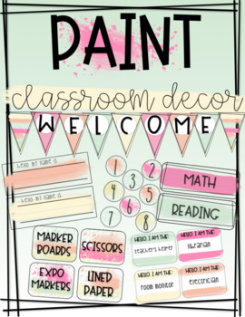 EDITABLE Paint Classrom Decor