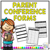 Parent Conference Forms EDITABLE