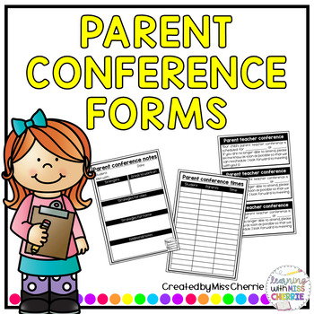 Parent Conference Forms EDITABLE