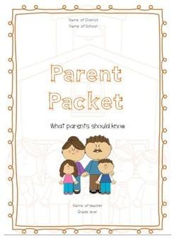 EDITABLE- Parent Packet