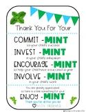 EDITABLE Parent Teacher Appreciation Gift Tags