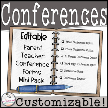 EDITABLE Parent Teacher Conference Quick and Easy Forms!