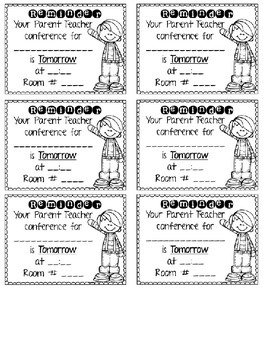EDITABLE Parent Teacher Conference Request Forms