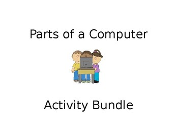 EDITABLE Parts of a Computer BUNDLE! Text Features Computer Science Activities