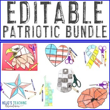 EDITABLE Patriotic Symbols - Perfect for Veterans Day Activities on ANY Topic!