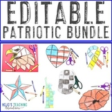 EDITABLE Patriotic Symbols - Perfect for Veterans Day Acti