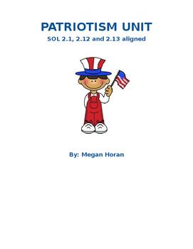 EDITABLE Patriotism UNIT PLAN SOL ALIGNED WITH STEM DESIGN BRIEF