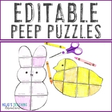 EDITABLE Peep Activity | Make your own BUNNY or CHICK Craft on ANY Topic!