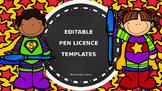 EDITABLE Pen Licences