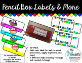 EDITABLE Pencil Box Labels and more!