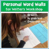 EDITABLE Personal Word Walls for Writer's Workshop