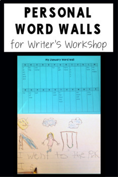 EDITABLE Personal Word Walls for Writer's Workshop | Portable Word Wall Template