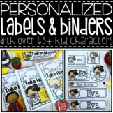 EDITABLE Personalized Kid Classroom Labels and Take Home B
