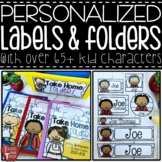 EDITABLE Personalized Kid Classroom Labels and Take Home F
