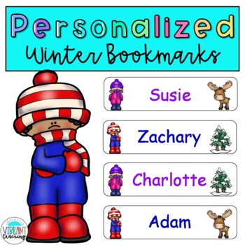 EDITABLE Personalized Winter Bookmarks