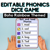 EDITABLE Phonics Dice Game - Phonics Games - Phonics Aware