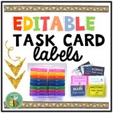 EDITABLE Task Card Labels {IRIS Boxes}