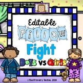 EDITABLE Pillow Fight