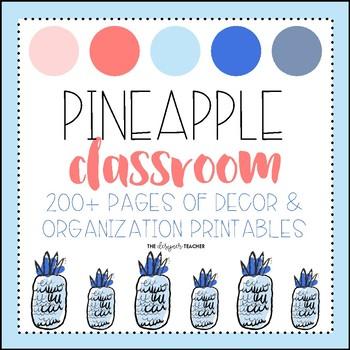Pineapple Classroom Decor Pack EDITABLE