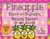 EDITABLE Tropical Pineapple Door / Bulletin Board Decor fo