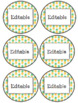 EDITABLE Pineapple Labels