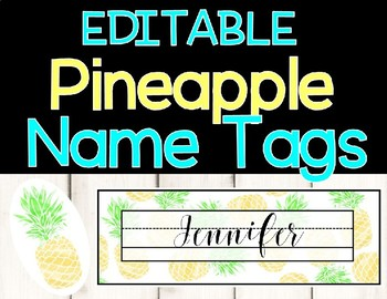 Pineapple Name Tags Worksheets & Teaching Resources | TpT