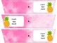 EDITABLE Pineapple Themed Rolling Cart Drawer Labels