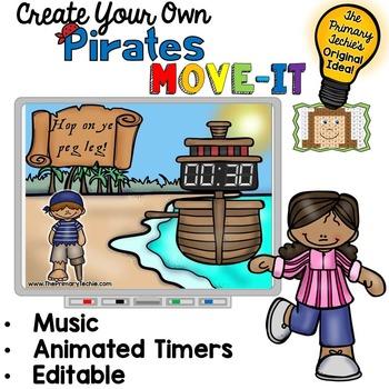 EDITABLE Pirate Move It - Brain Breaks