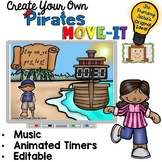 EDITABLE Pirate Move It - Brain Breaks