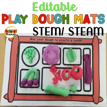 EDITABLE Play Dough Mats STEM STEAM Maker Space Morning Tubs