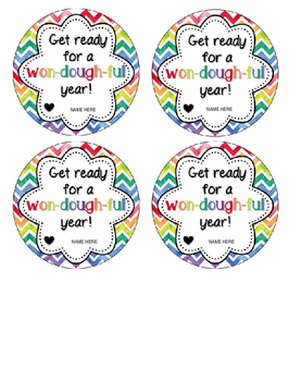 EDITABLE Play Dough or Clay Student Gift Tags