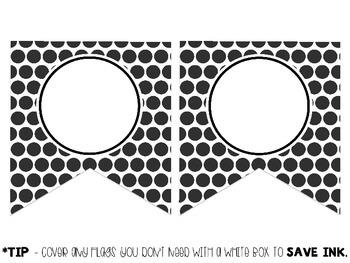 EDITABLE - Polka Dot Banner