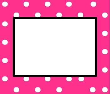 EDITABLE Polka Dot Border for Word
