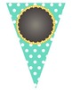 EDITABLE Polka Dot Chalkboard Banner- Multi Colors