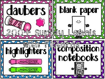 EDITABLE Everything Polka DotS Classroom Decor MEGA Pack